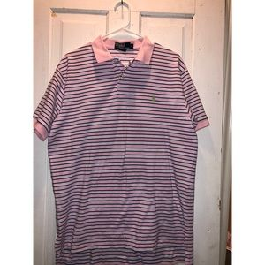 Polo by Ralph Lauren Pink w/ green pony size Large
